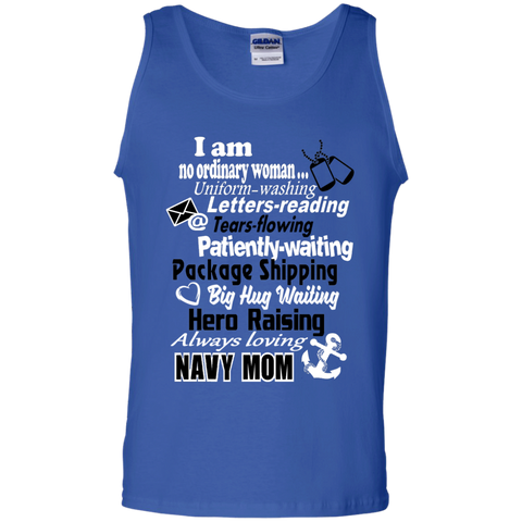 I am a Navy Mom 100% Cotton Tank Top