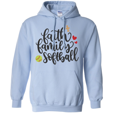 Faith Family Softball  Hoodie