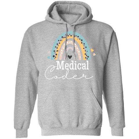 Medical coder rainbow Pullover Hoodie