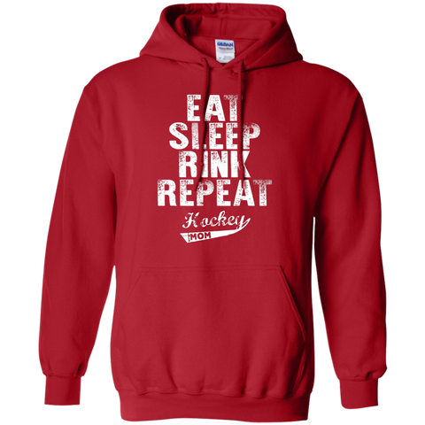 Eat Sleep Rink Repeat Hockey Mom Hoodie 8 oz