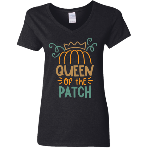 Queen of the Patch   Ladies V Neck Tshirt