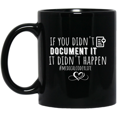 if you didn't document it it v2  11 oz. Black Mug