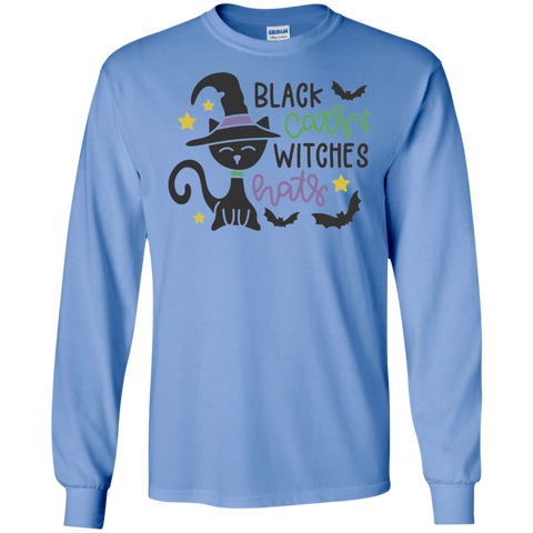 Black Cats & Witches Hats  LS Tshirt