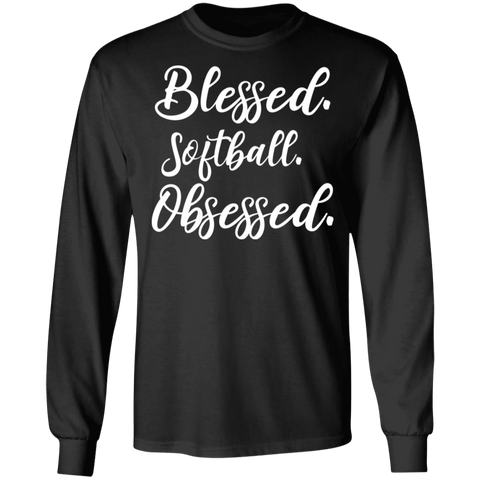 Blessed softball obsessed .  T-Shirt