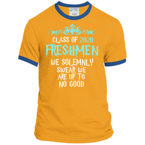 Class of 2020 Freshmen We Solemnly Swear We Are Up to No Good Ringer Tee