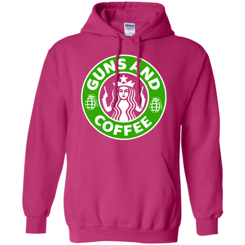 Guns and Coffee  Hoodie 8 oz