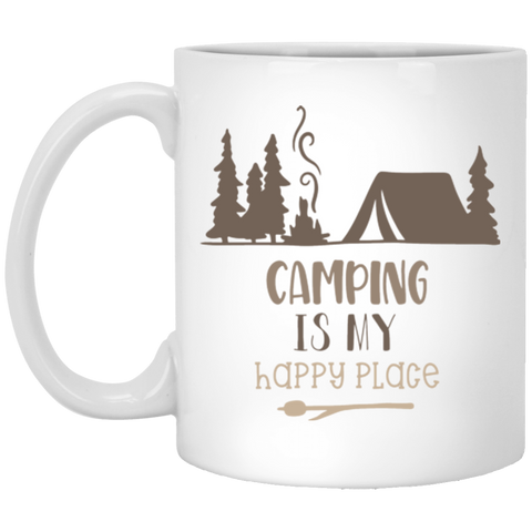 Camping is my Happy Place  11 oz. White Mug