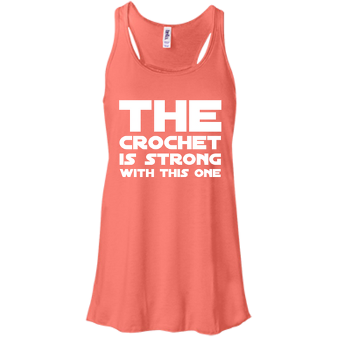 The Crochet is strong with this one  Flowy Racerback Tank