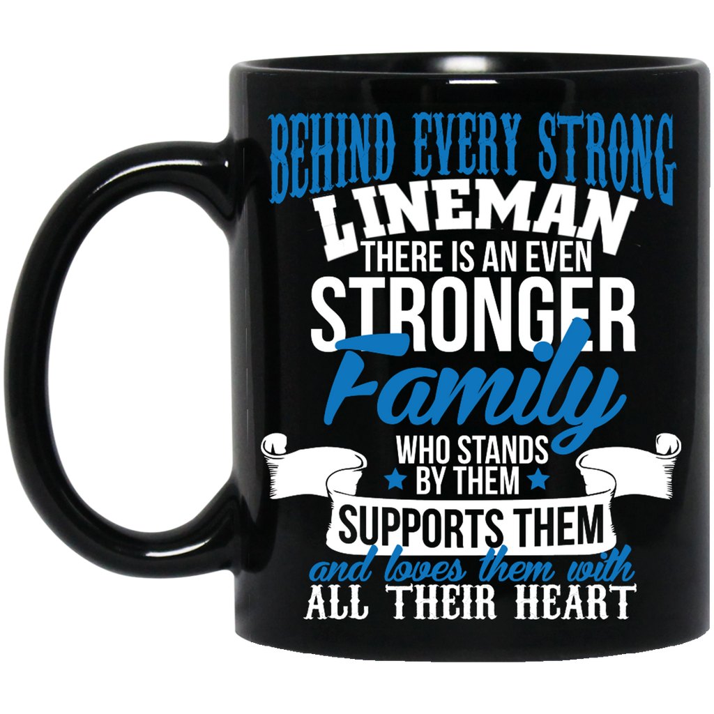 Behind every strong lineman there is an even stronger family  Mug