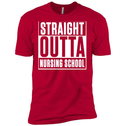 Straight Outta Nursing School  Next  Level Premium Short Sleeve Tee