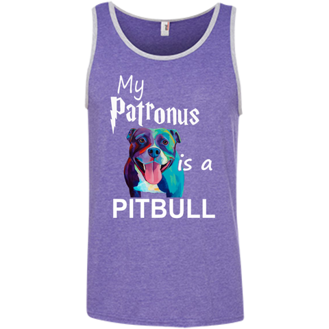 My Patronus is a Pitbull  Ringspun Cotton Tank Top