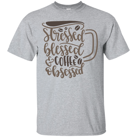 Stressed Blessed coffee obsessed  T-Shirt