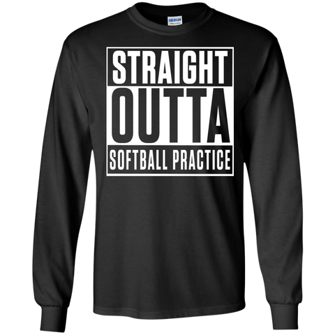 Straight Outta Softball Practice Ultra Cotton Tshirt