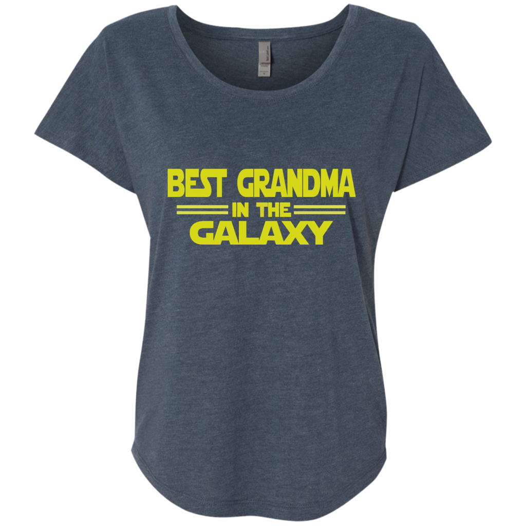 Best Grandma in the Galaxy Next Level Ladies Triblend Dolman Sleeve