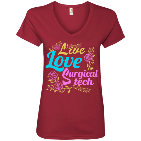 Live Love Surgical Tech Ladies' V-Neck Tee