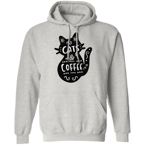 Cat and Coffee Pullover Hoodie
