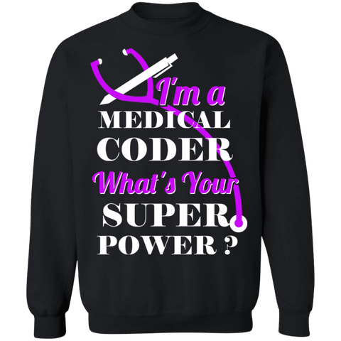 Medical coder superpower Pullover Sweatshirt  8 oz.