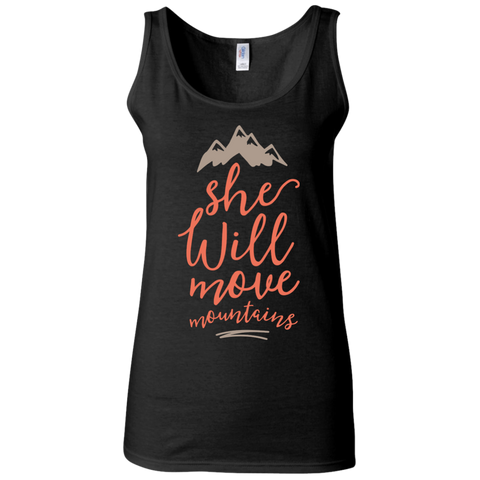 She will move mountains   Ladies' Softstyle Fitted Tank