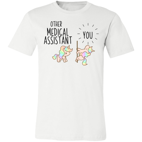 Medical Assistant Party Unicorn Unisex Jersey Short-Sleeve T-Shirt