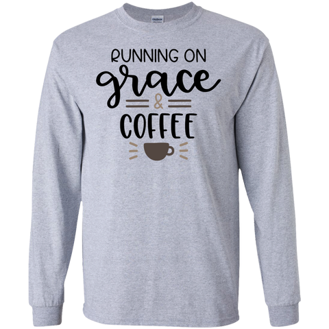 Running on grace  & coffee  LS Tshirt