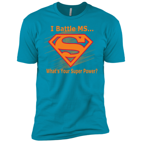 I Battle MS What's Your Super Power Next Level Premium Short Sleeve Tee