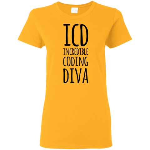 ICD Incredible Coding Diva Ladies Tshirt