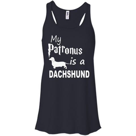My Patronus is a Dachshund Bella+Canvas Flowy Racerback Tank
