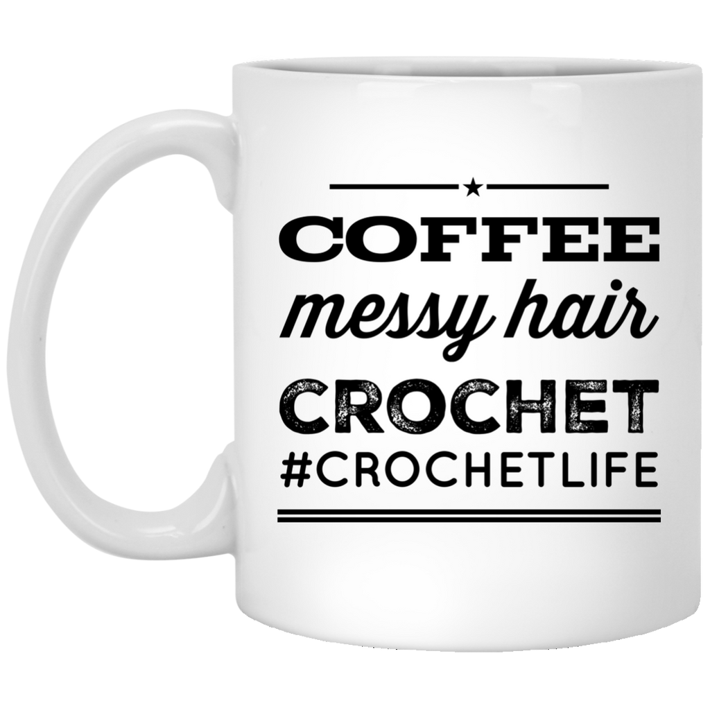 Coffee Messy Hair Crochet #crochetlife  Mug