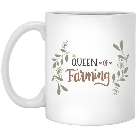 Queen of Farming  11 oz. White Mug