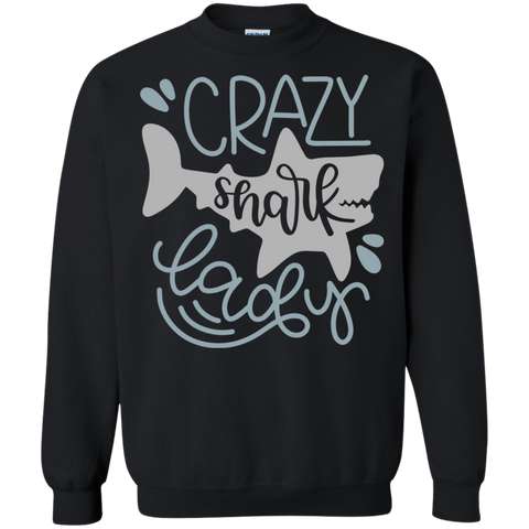 Crazy Shark Lady  Sweatshirt