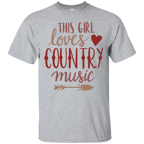 This Girl loves country music Tshirt