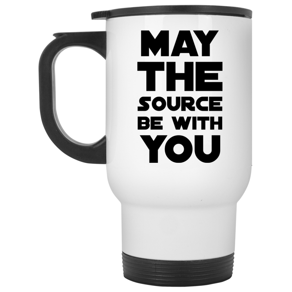 May The Source be with you White Travel  Mug