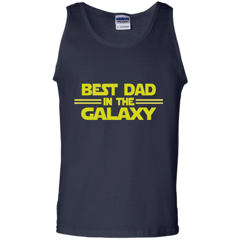 Best Dad in the Galaxy 100% Cotton Tank Top