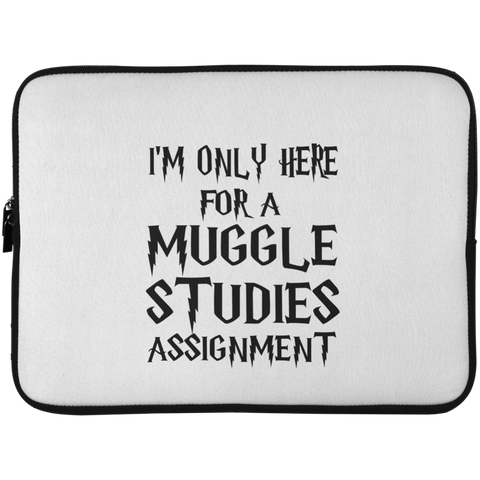 I'm Only Here For a Muggle Studies Assignment Laptop Sleeve - 15 Inch