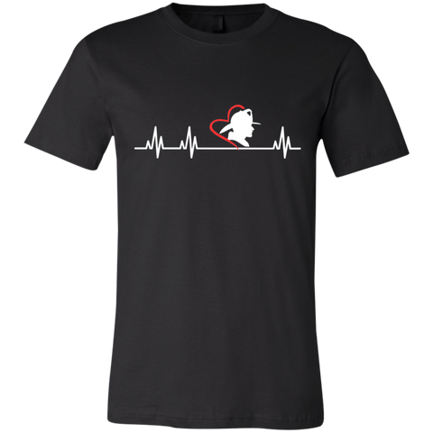 Firefighter's wife heartbeat  T-Shirt