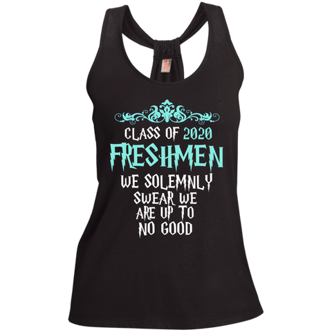 Class of 2020 Freshmen We Solemnly Swear We Are Up to No Good Ladies Shimmer Loop Back Tank