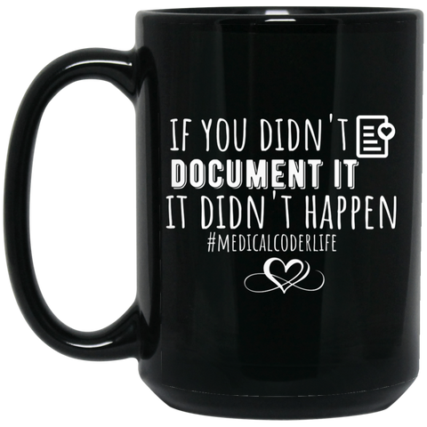 if you didn't document it it v2  15 oz. Black Mug