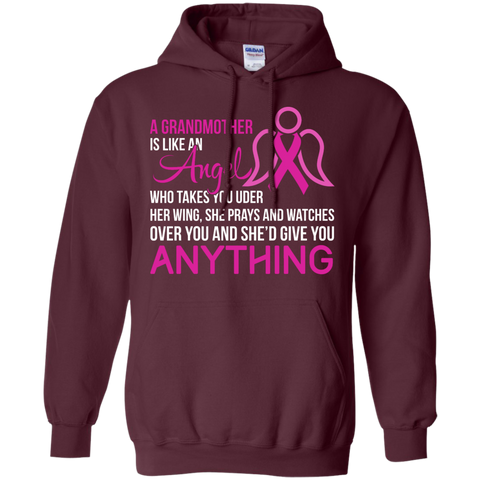 A Grandmother is like an angel Hoodie 8 oz
