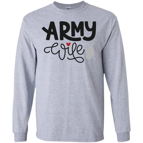 Army Wife  LS Tshirt