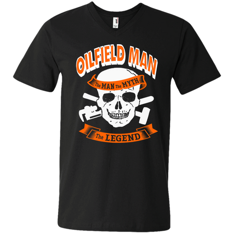 Oilfield Man The Man The Myth The Legend Men's Printed V-Neck T
