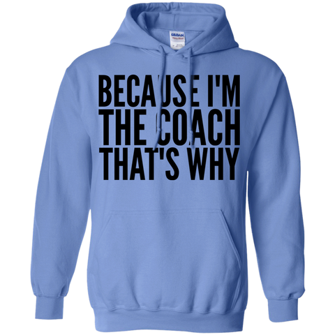 Because I'm the coach that's why  Hoodie