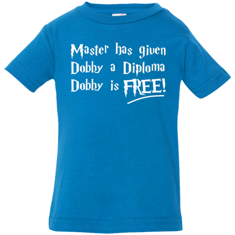 Master has given dobby a diploma dobby is free Infant  Jersey Tee