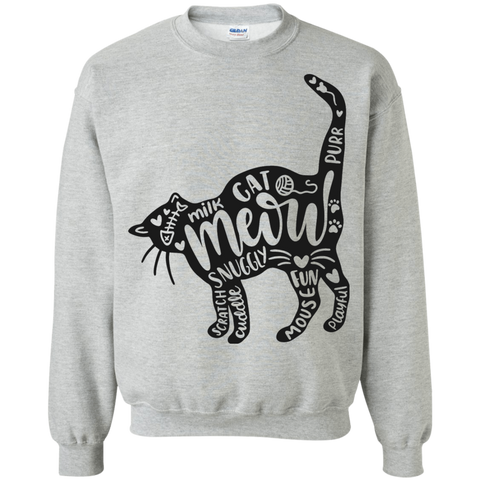 Cat and words Sweatshirt