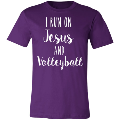 I run on Jesus and volleyball T-Shirt