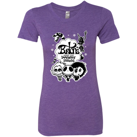Home for Imaginary Friends Next Level Ladies Triblend T-Shirt