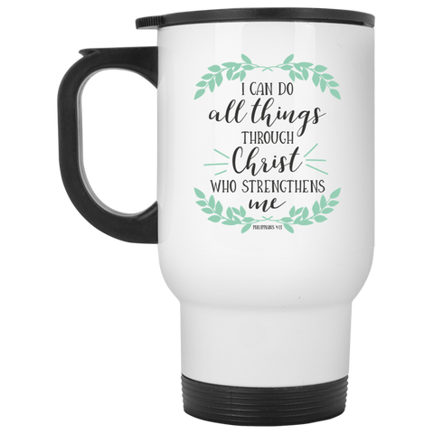 PHILIPPIANS 4:13	 White Travel Mug