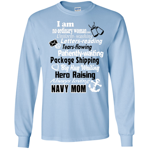 I am a Navy Mom LS Ultra Cotton Tshirt