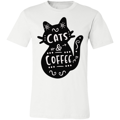 Cat and Coffee Unisex Jersey Short-Sleeve T-Shirt