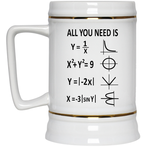 All You Need is Love  Beer Stein - 22 oz