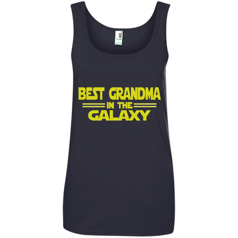 Best Grandma in the Galaxy Ladies' 100% Ringspun Cotton Tank Top